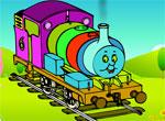 Раскраска паровозик играть онлайн бесплатно